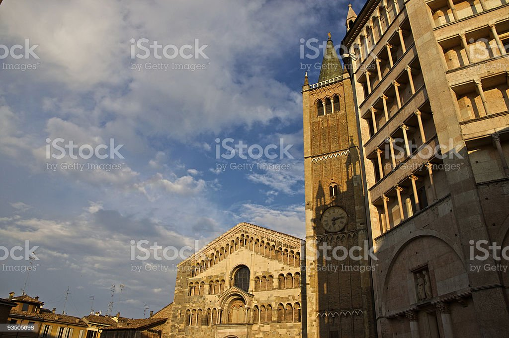 The dome in Parma royalty-free stock photo