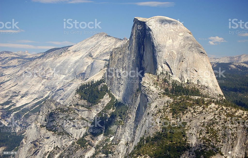 The Dome Mountains with one looking like it was cut in half stock photo