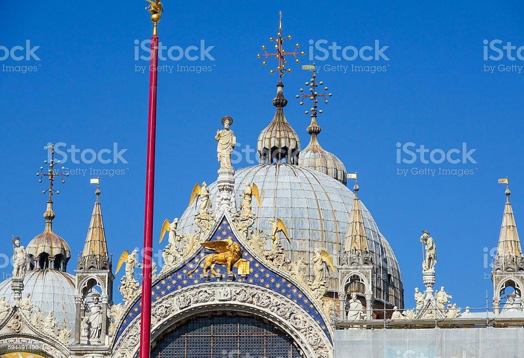 Die Kuppel der Basilika San Marco in Venedig Lizenzfreies stock-foto