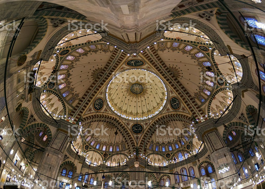 The Dome of Fatih Mosque royalty-free stock photo