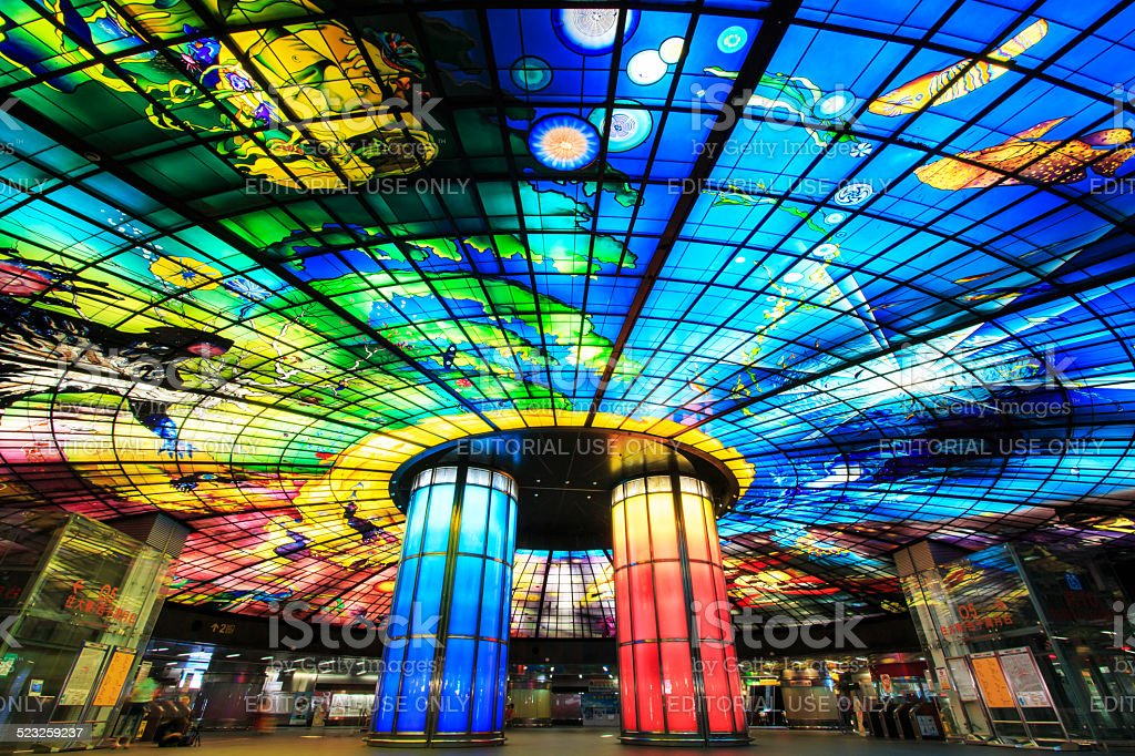 The Dome of Light at Formosa Boulevard, Kaohsiung stock photo