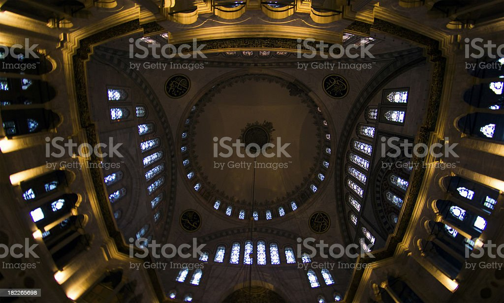 The dome of Nuruosmaniye Mosque royalty-free stock photo