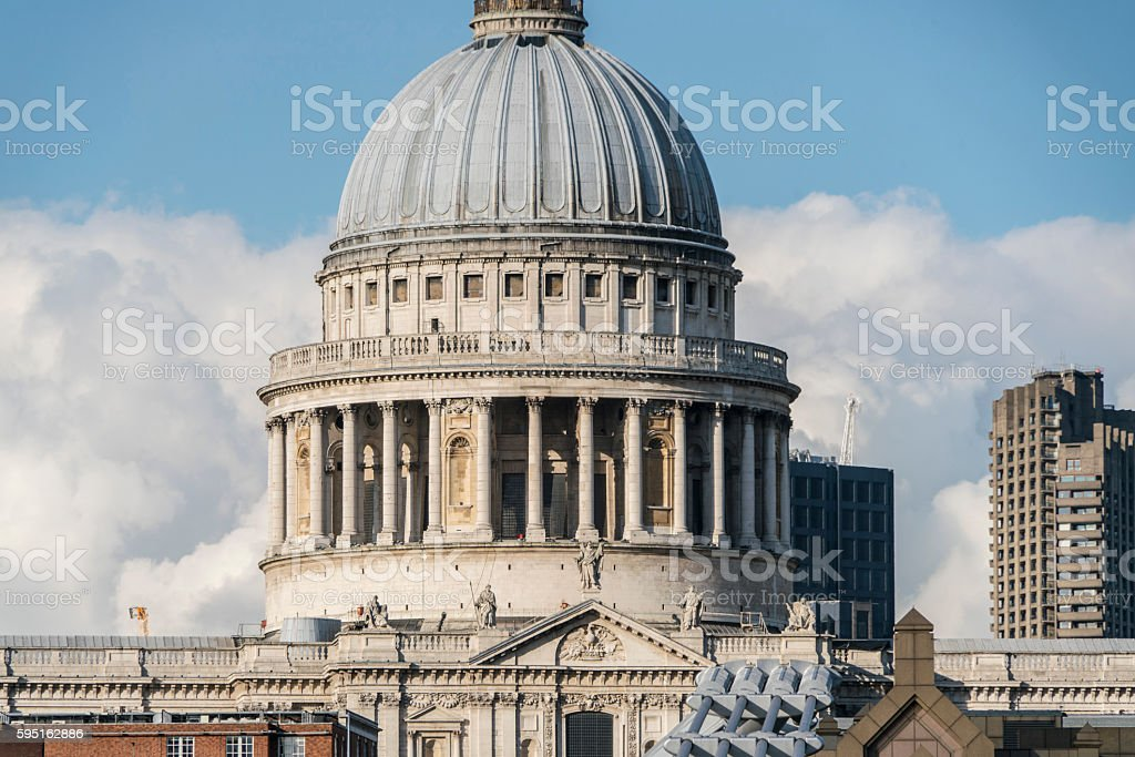 The Dome of St. Paul´s Cathedral London Lizenzfreies stock-foto