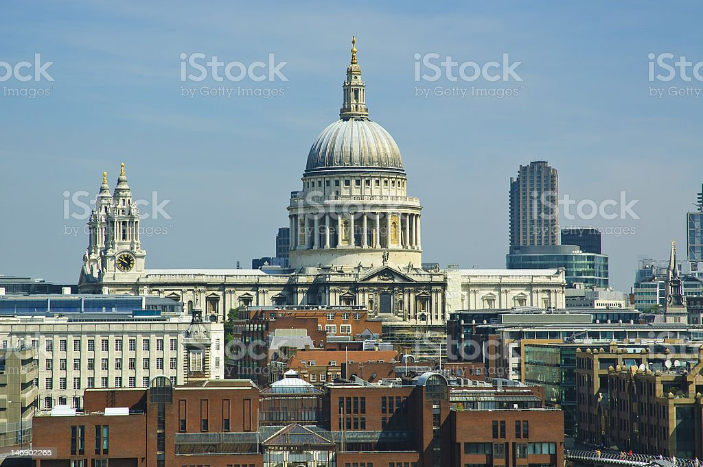 The Dome of St Pauls, London, UK royalty-free stock photo