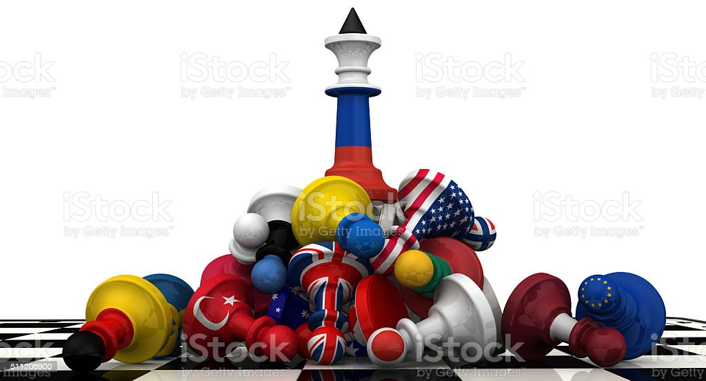 The dominance of the Russian Federation in geopolitics. Concept stock photo