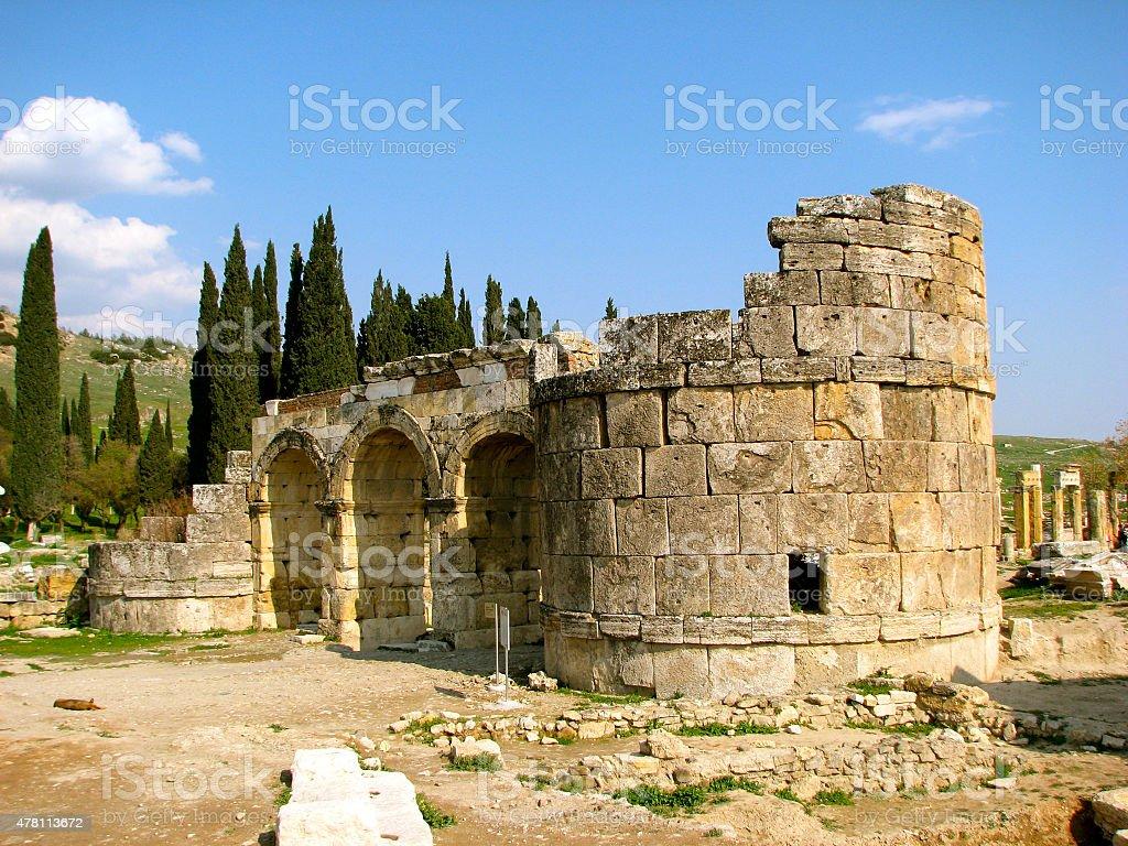 The Domitian Gate, Hierapolis, Turkey stock photo