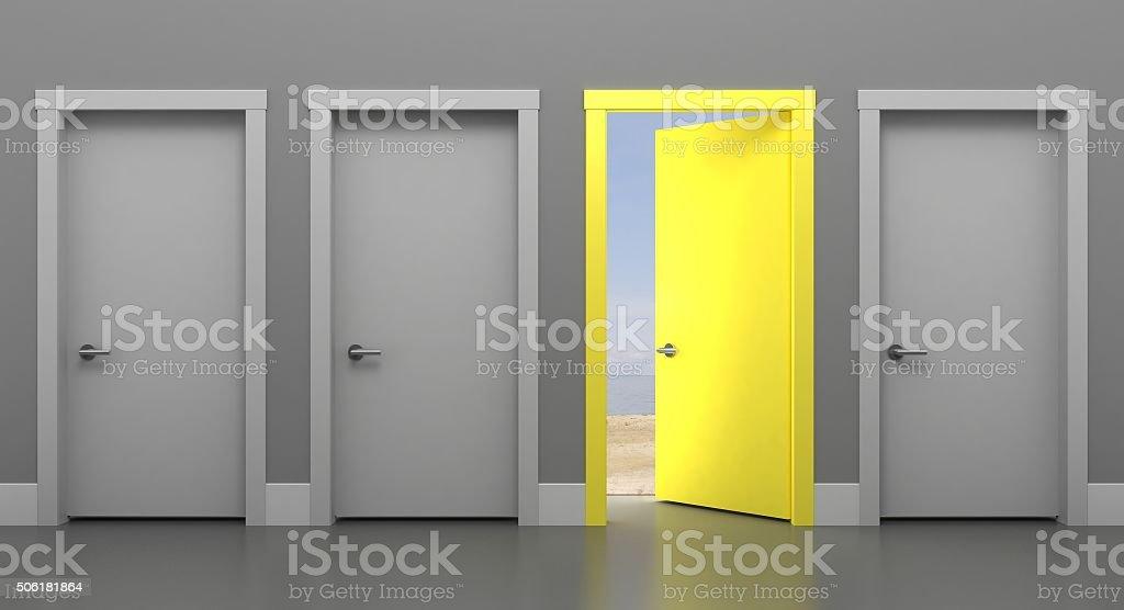 The Door into Summer stock photo