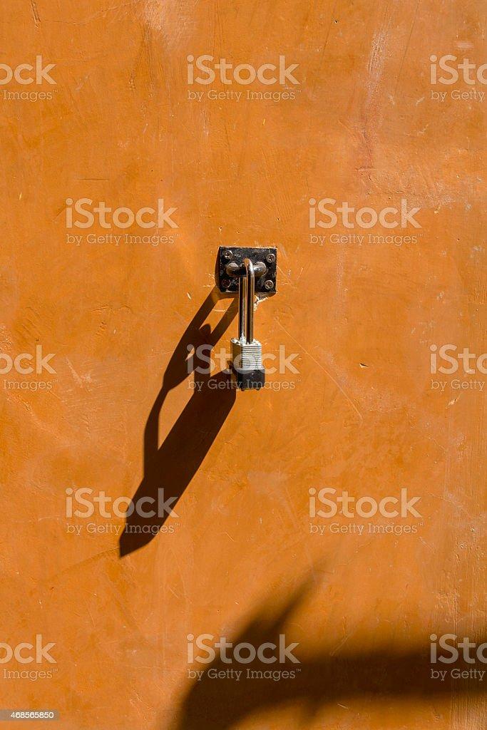 The door lock royalty-free stock photo