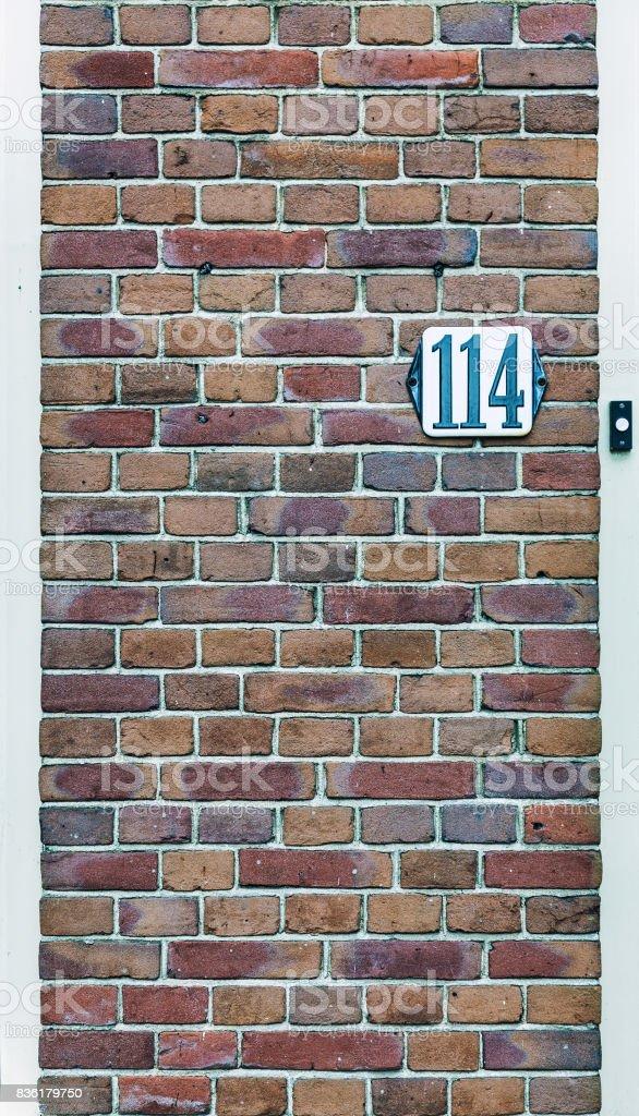 the door number stock photo