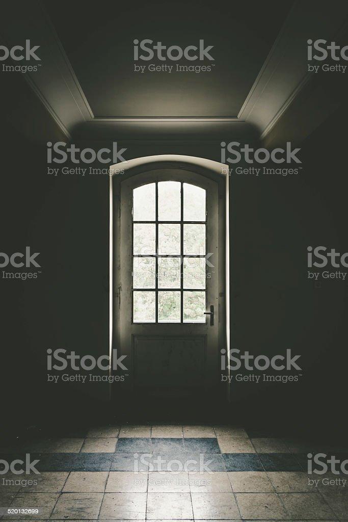The door to light stock photo