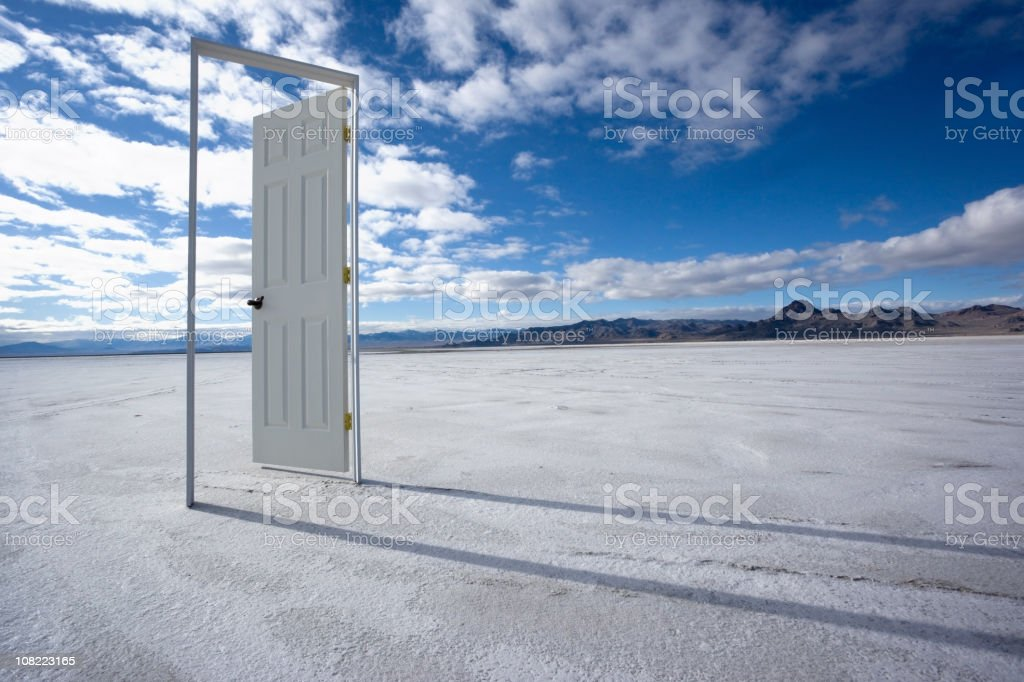 The Door to Nowhere royalty-free stock photo