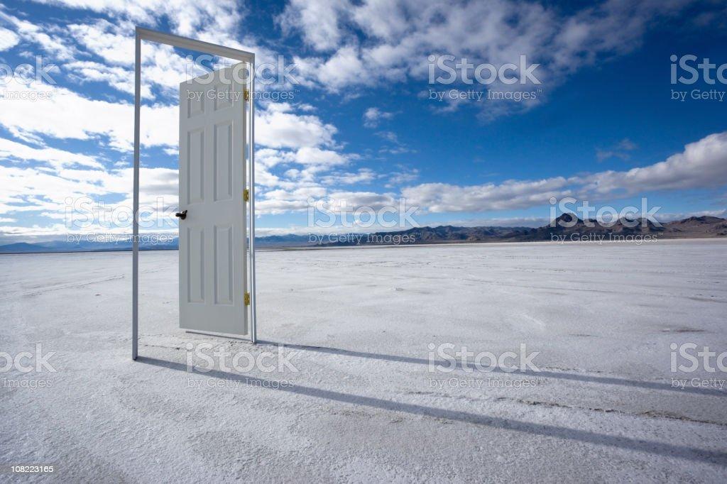 The Door to Nowhere stock photo