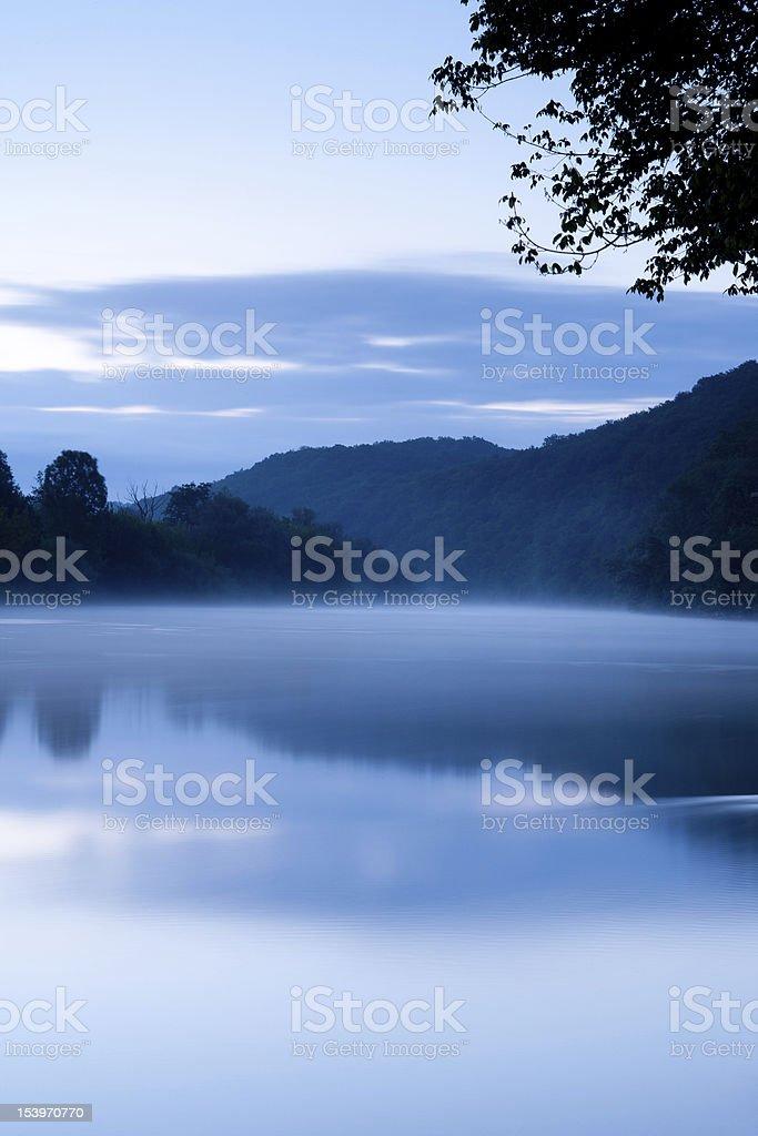 The Dordogne at dawn stock photo