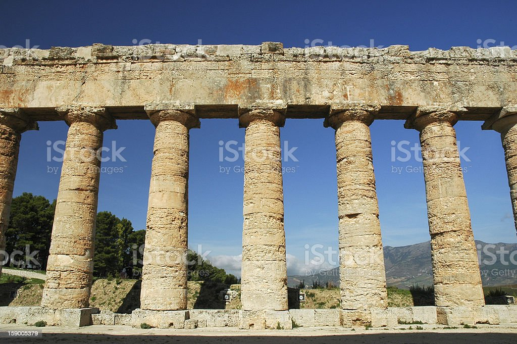 The Doric temple of Segesta royalty-free stock photo