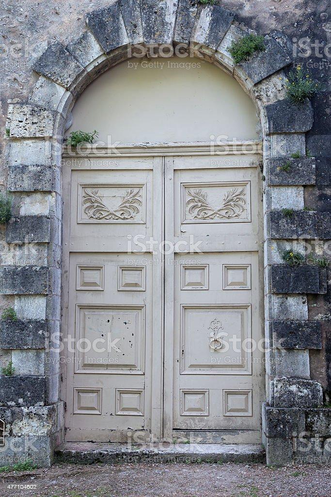 The double door royalty-free stock photo