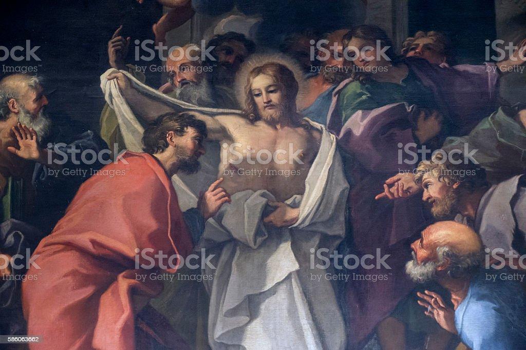 The Doubt of Saint Thomas the Apostle stock photo
