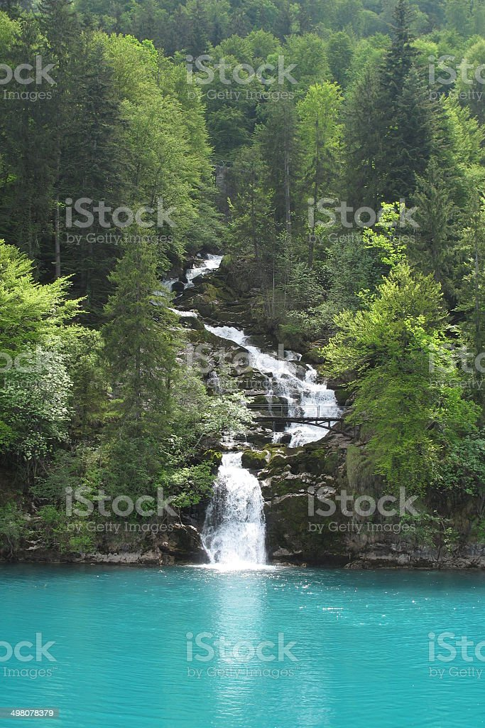 The Downstream of Giessbach Falls royalty-free stock photo