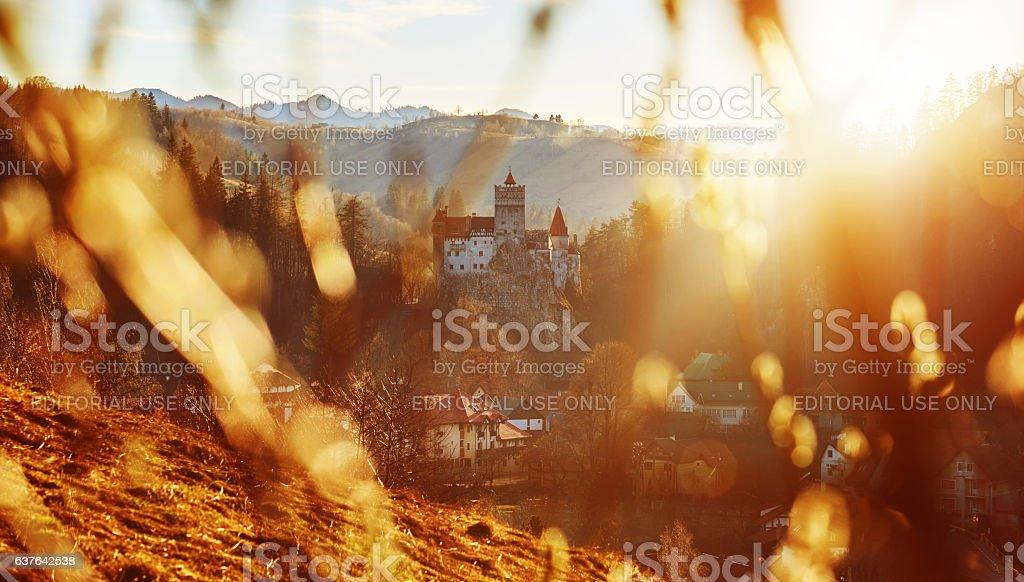 the Dracula Castle in Bran stock photo