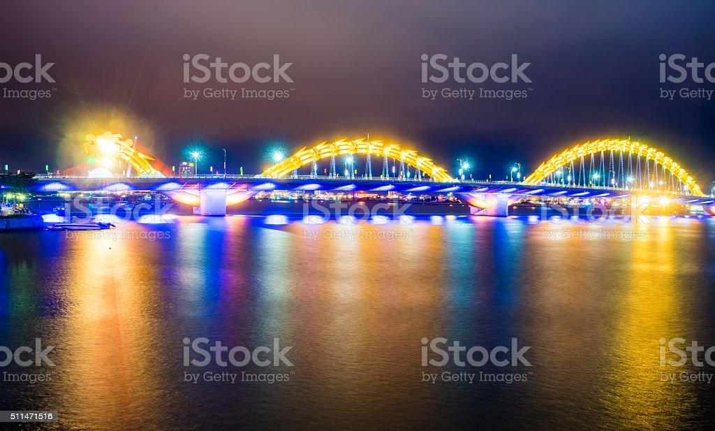 The Dragon Bridge at Da Nang - Vietnam stock photo