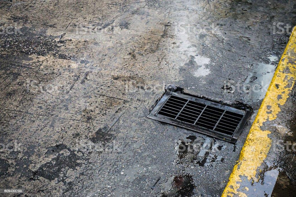 The drain. stock photo