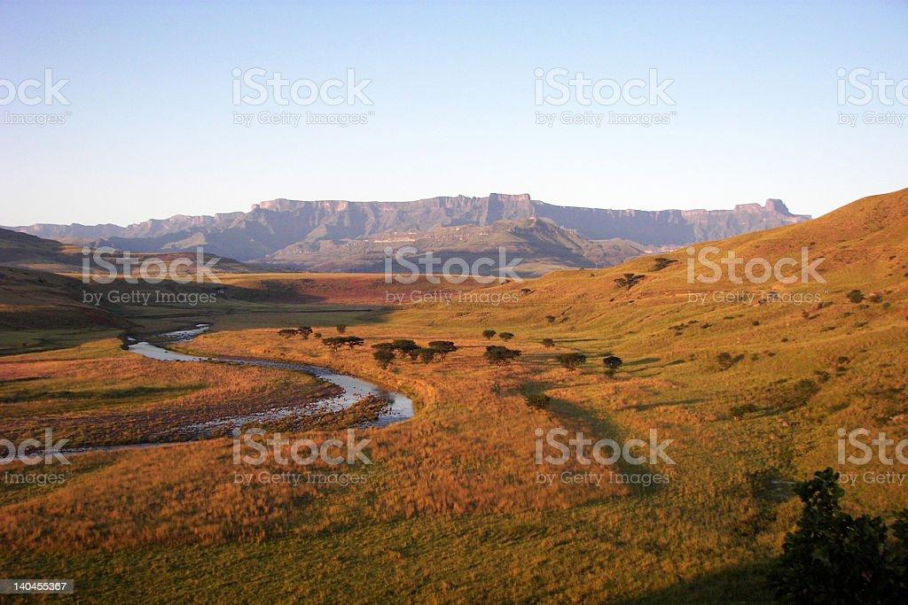 The Drakensberg Mountains stock photo