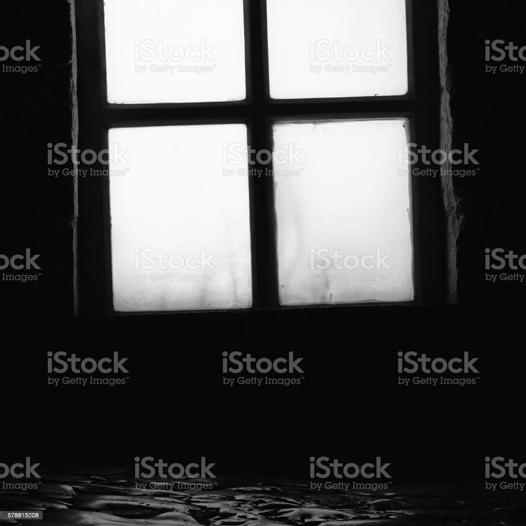 the dreaded windows and dark stock photo