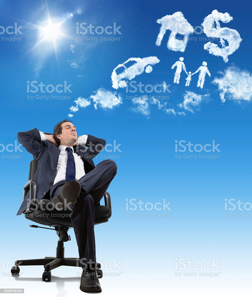 the dreams of a man stock photo