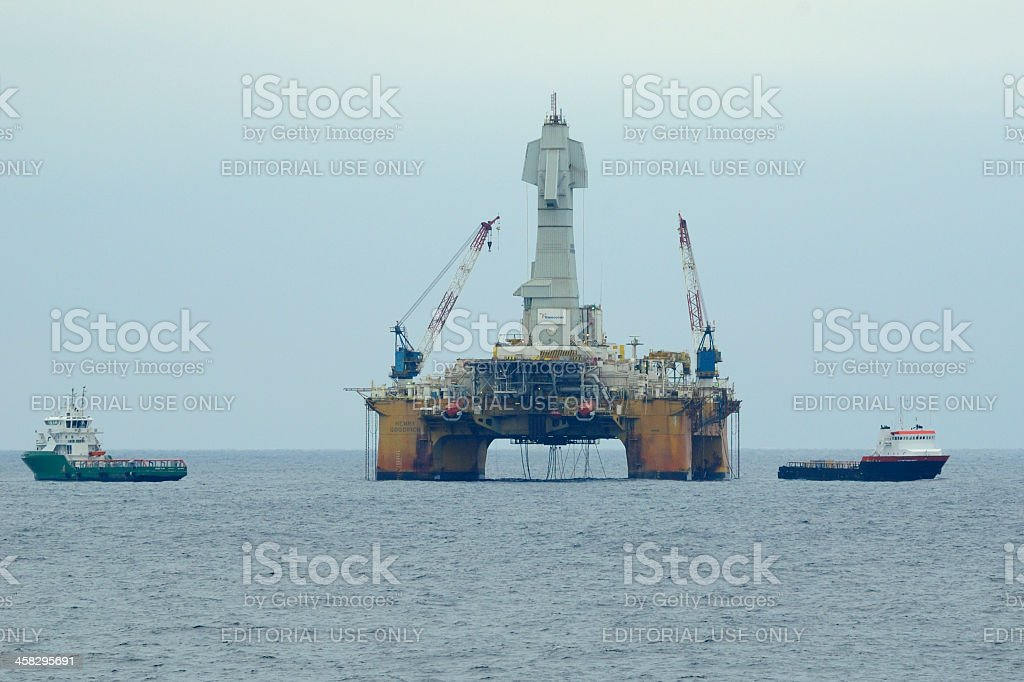 The Drilling Rig Henry Goodrich royalty-free stock photo