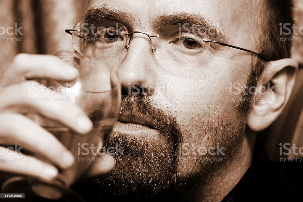 The drinker royalty-free stock photo
