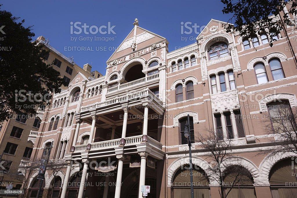 The Driskill Hotel on 6th Street in Austin, Texas royalty-free stock photo
