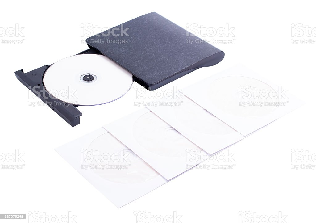 The drive for disks on a stock photo