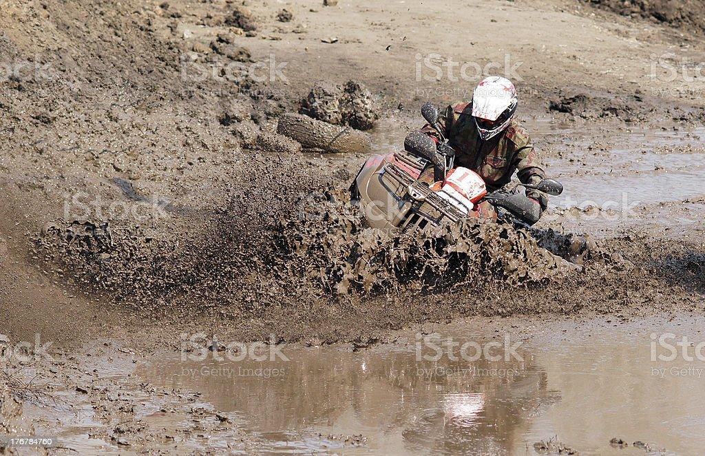 The driver ATV royalty-free stock photo