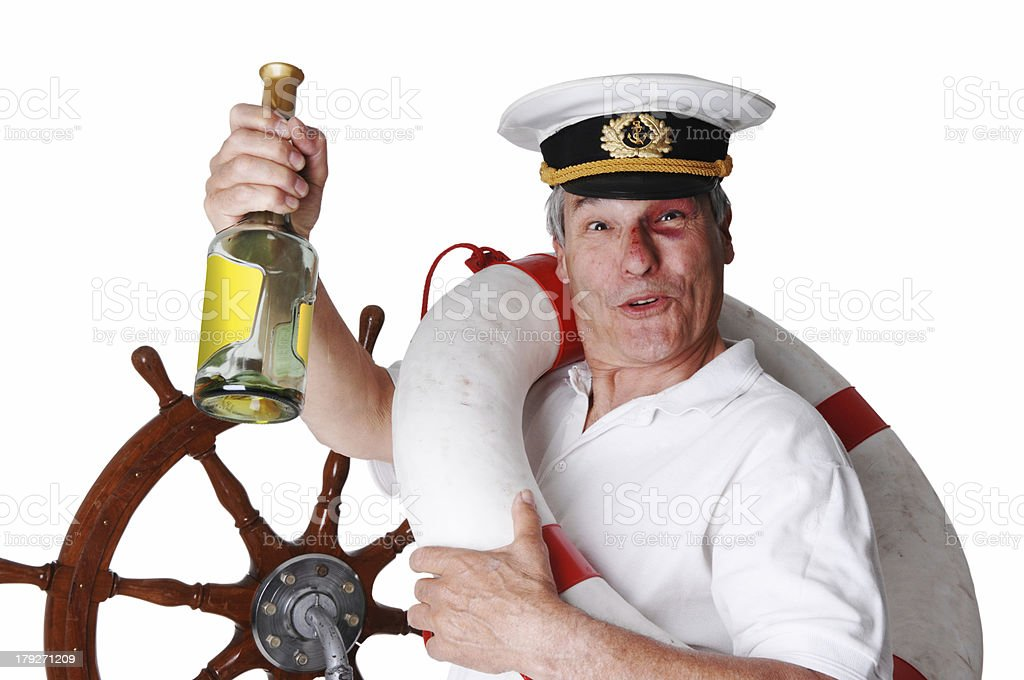 the drunken captain royalty-free stock photo