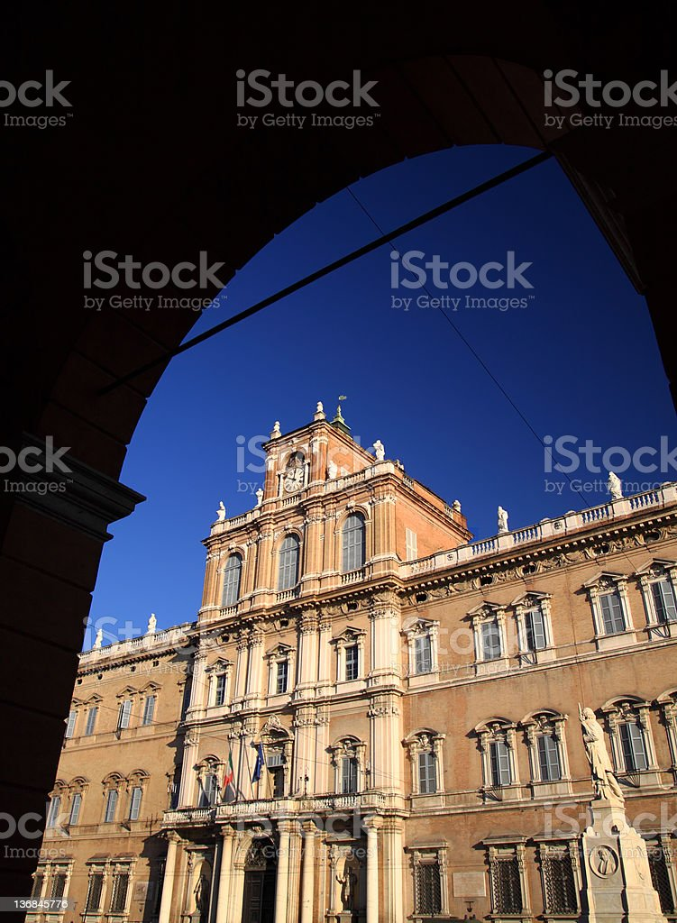 The Ducal Palace in Modena, Italy royalty-free stock photo