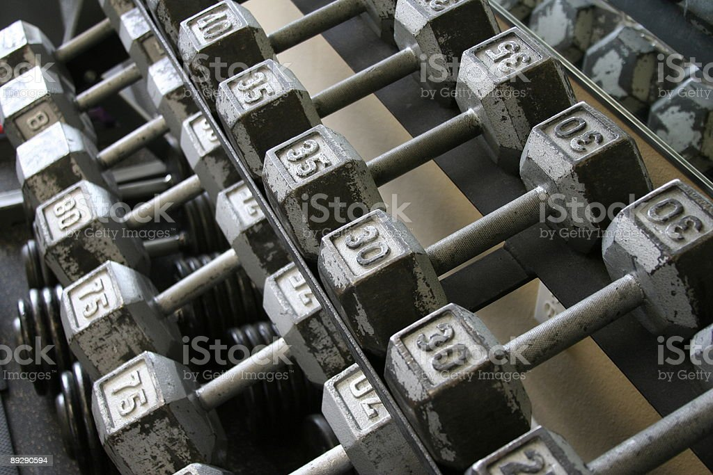 The DumbBells royalty-free stock photo