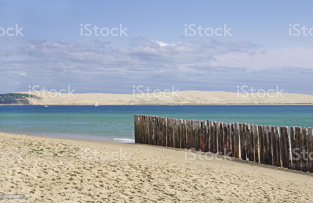 The dune of Pilat stock photo