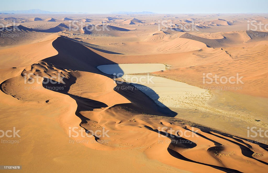 The dunes from Namib Desert stock photo