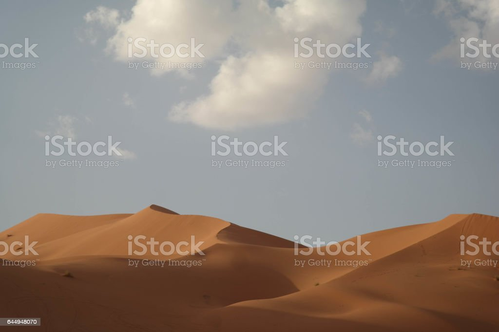 The Dunes of Erg Chebbi stock photo