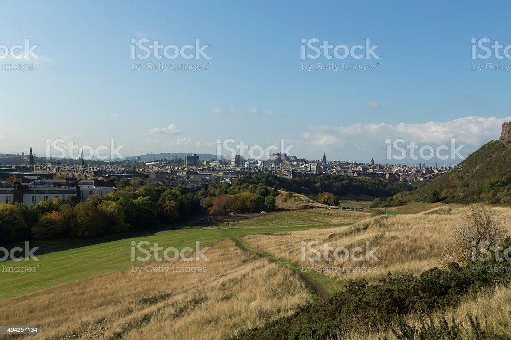 The dunes of scotland stock photo