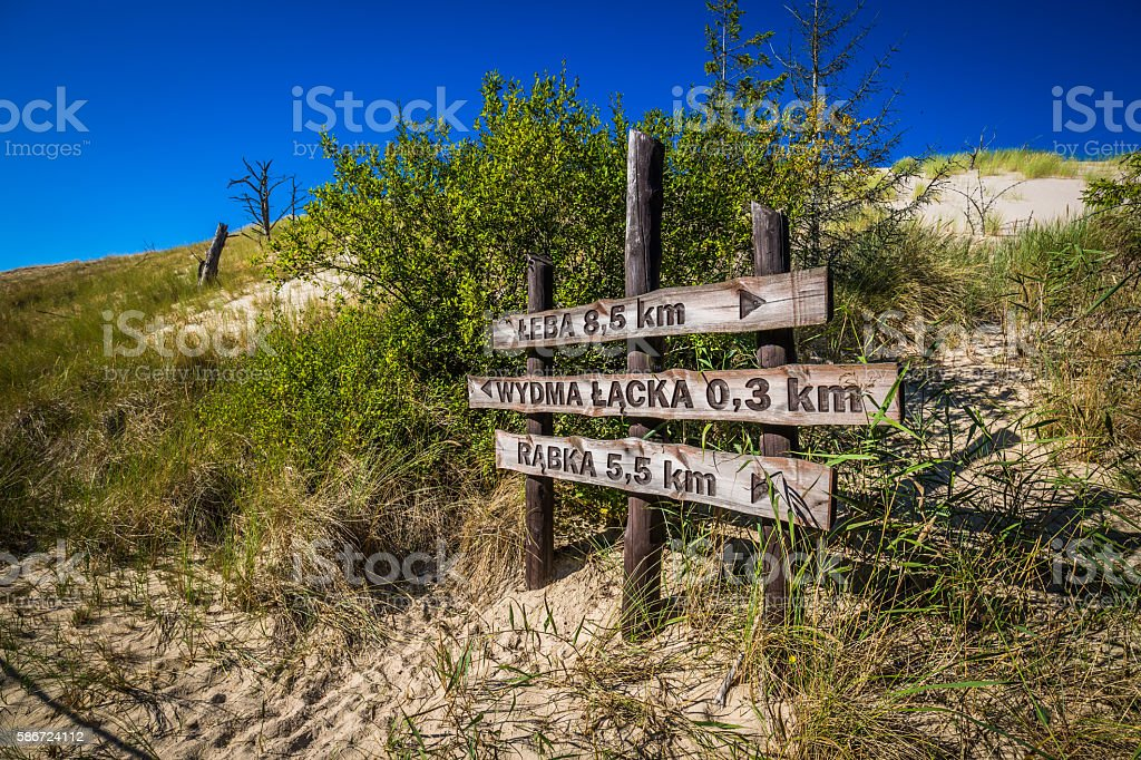 The dunes of the Slowinski national park in Poland stock photo