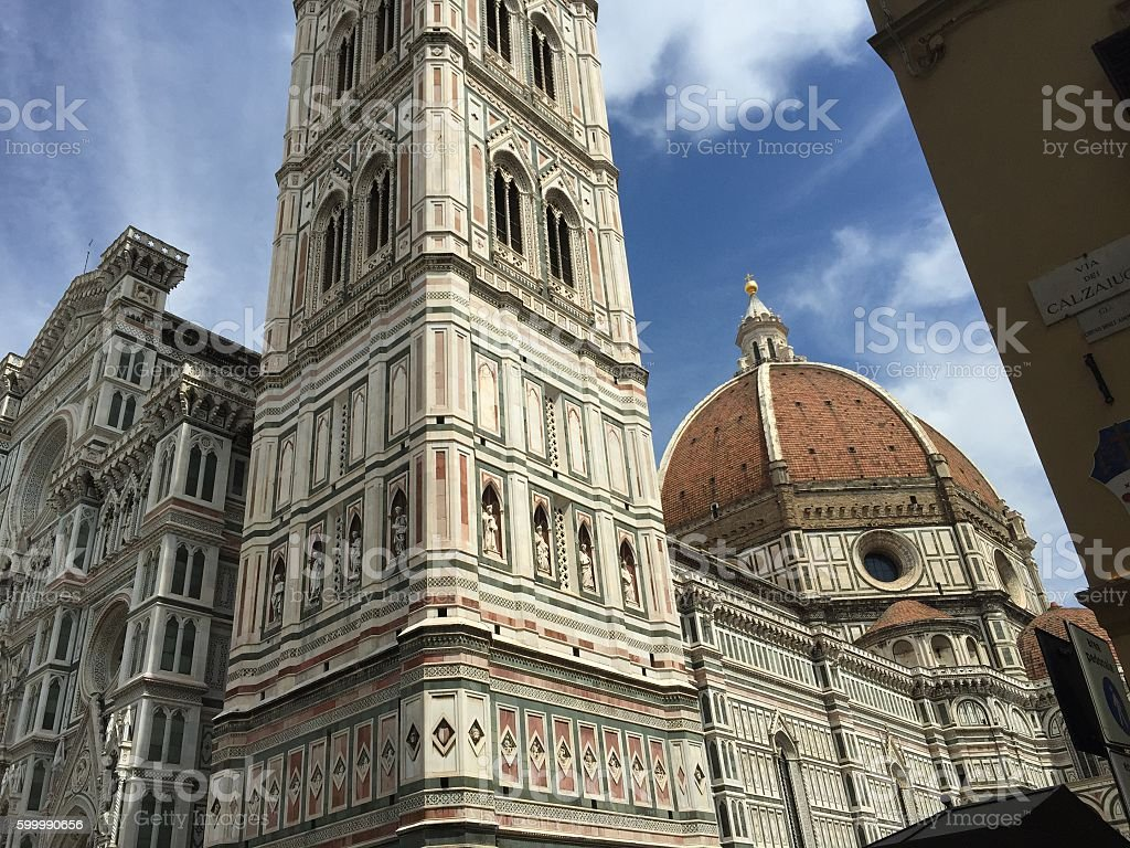 The Duomo and Cathedral in Florence stock photo