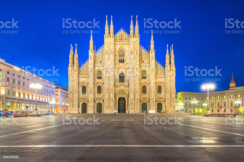 The Duomo of Milan Cathedral in Milan, Italy stock photo