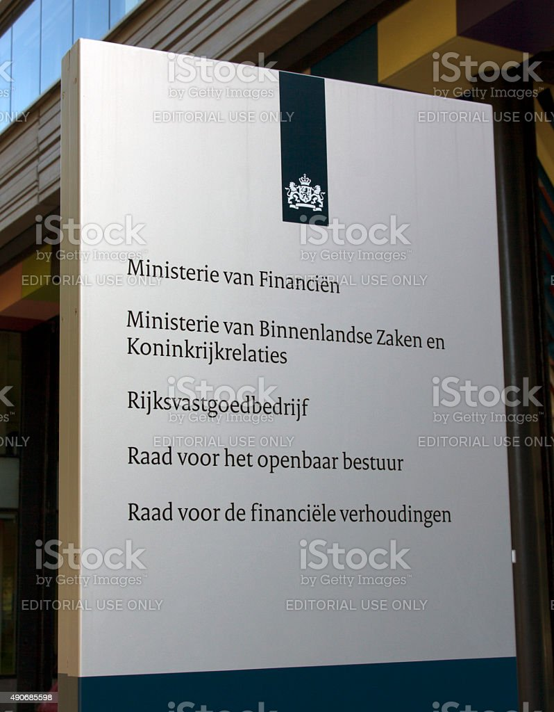 The Dutch Ministry of the Interior and Kingdom stock photo