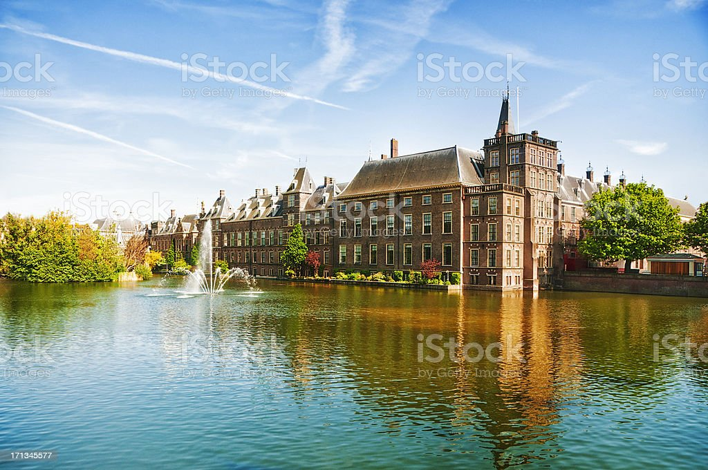 The Dutch Parliament in The Hague, Netherlands stock photo