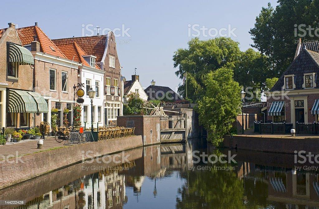 The Dutch Village of Spaarndam royalty-free stock photo