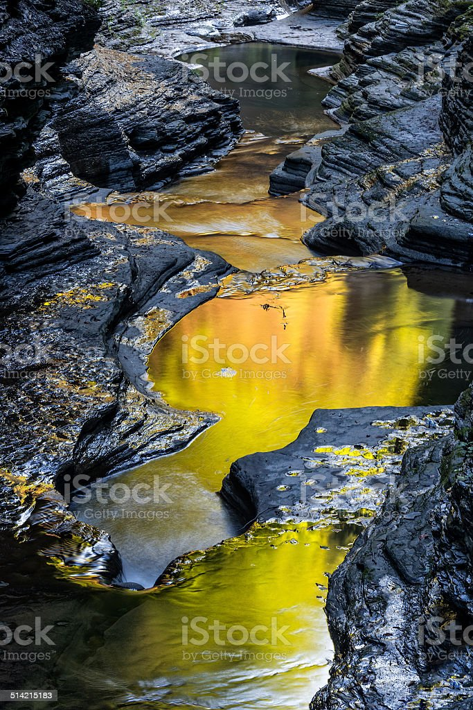 The Early Morning Color Of Watkins Glen State Park stock photo
