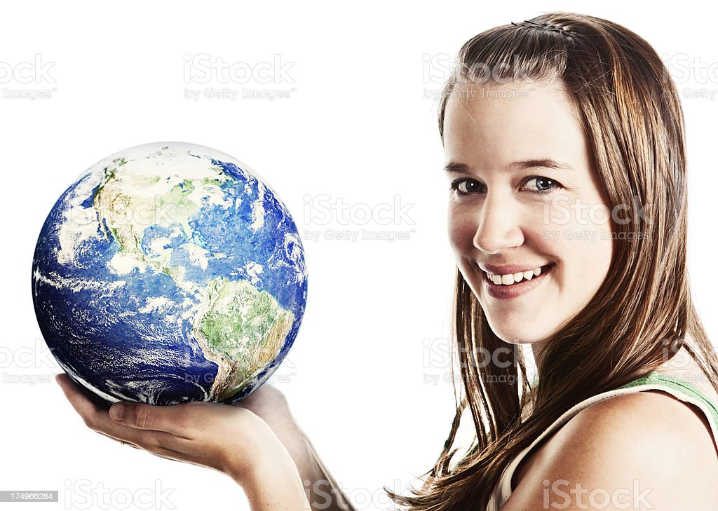 The earth is in good hands! stock photo