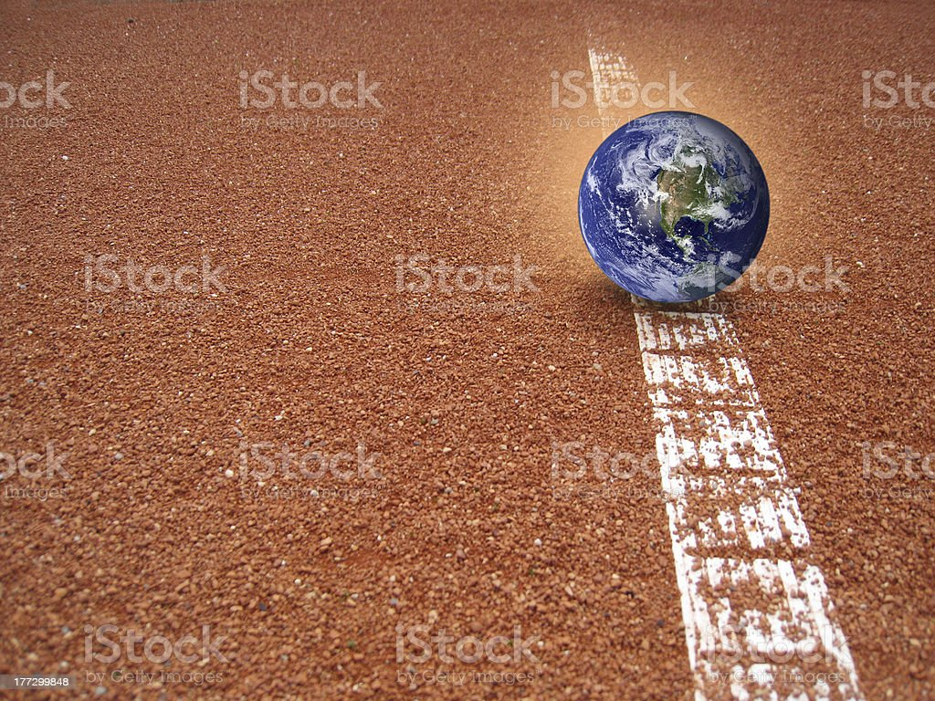 the earth is not yet out stock photo