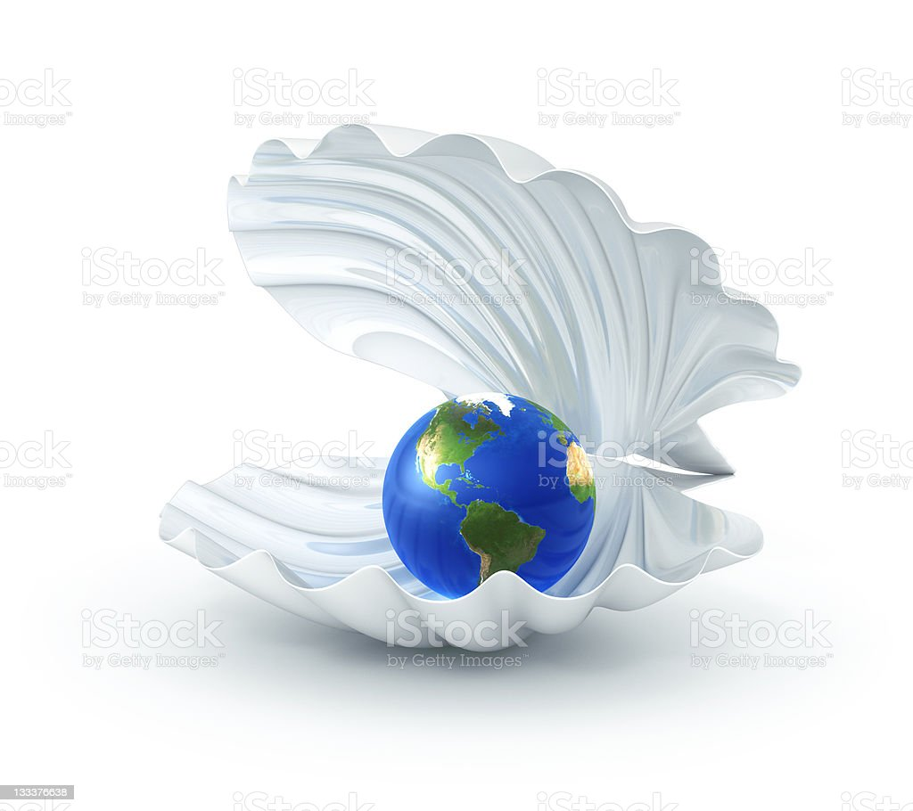 The Earth Is Our Pearl stock photo