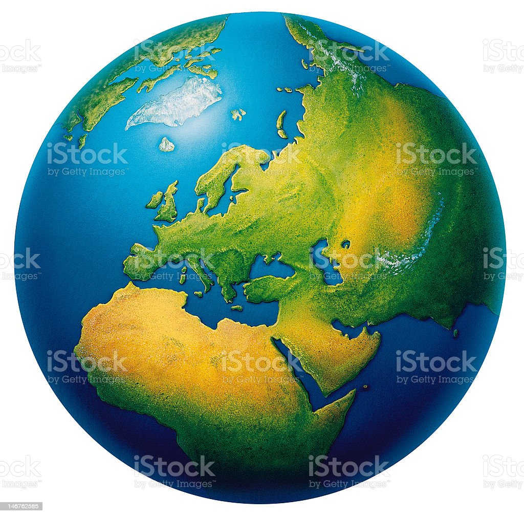 The earth- North Africa & Europian region royalty-free stock photo